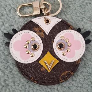 Owl bag charm for hand bags
